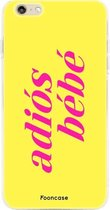 FOONCASE iPhone 6 / 6s hoesje TPU Soft Case - Back Cover - Adiós Bébé / Geel & Roze