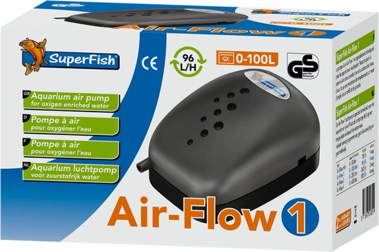 Superfish Air Flow 1 - Aquariumpomp - Beluchting - 1 uitgang