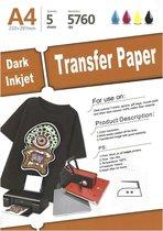 Afbeelding van Transferpapier donker Textiel