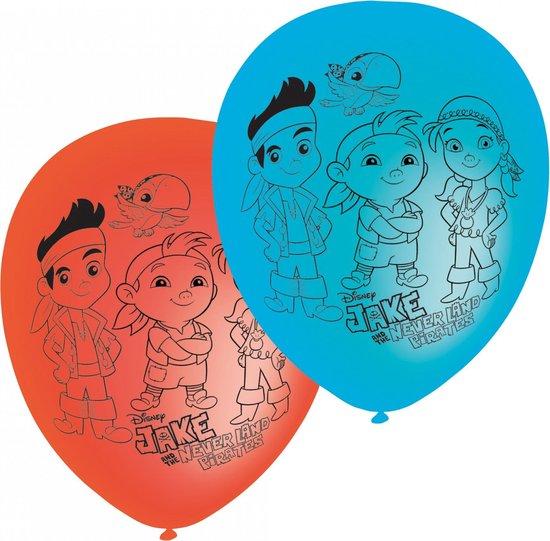 6 Jake en de Piraten™ ballonnen - Feestdecoratievoorwerp
