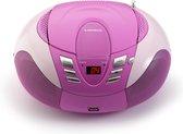Lenco SCD-37 - Draagbare Radio/CD-speler - Roze