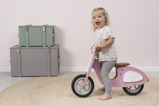 Little Dutch Verstelbare Loopscooter Roze