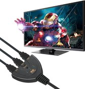 4K HDMI 1.4 Splitter Switch - 3 in naar 1 uit - 4K 1080p Ultra HD - 3D - ARC - High Speed Internet 10.2Gbit/s Indicatie LED + Pigtail - Zwart - DigiTech® NIEUWE VERSIE 1.4B ALS BESTE GETEST