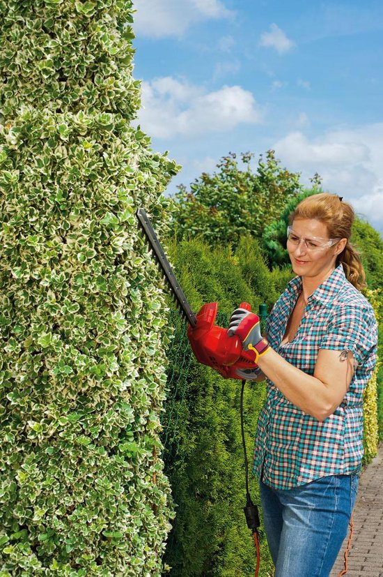 WOLF-Garten Elektrische heggenschaar HS 50 E - 500 Watt / 230 Volt  - 50 cm zwaardlengte - softgrip - mesbeschermer - Quickstop <0.2 sec