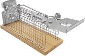 Diervriendelijke Muizenkooi – Levende Muizenval – Anti muis – Mouse trap - 15 x 6 cm - Hout