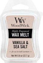 WoodWick Wax Melt  Mini Vanilla & Sea Salt Mini PER 3 STUKS