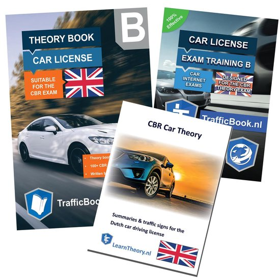 Boek cover CarTheoryBookEnglish 2021 - with the English Car Theory Practice Online Exam training - English Car Theory Summary - Drivers License B in English van Leertheorie (Paperback)