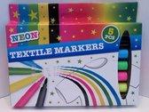 Textiel stiften - Textiel markers - Neon