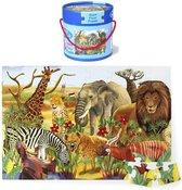 Vloerpuzzel Wilde Dieren - Simply for Kids - 48 Grote Stukken - In Ton