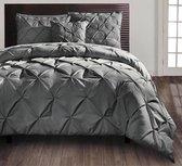 Dekbedovertrek Monte Carlo Dark Grey 240 x 200/220 cm - Lits Jumeaux