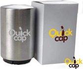 Quickcap Automatische roestvrijstalen flesopener - Flessenopener - Bieropener - Flesopener - Roest vrij staal - Premium - Druksysteem - Duurzaam - Luxe opener - Schieter - Sleutelhanger - Doppen verwijderen - Druksysteem - Bierpakket -ouvre-bière