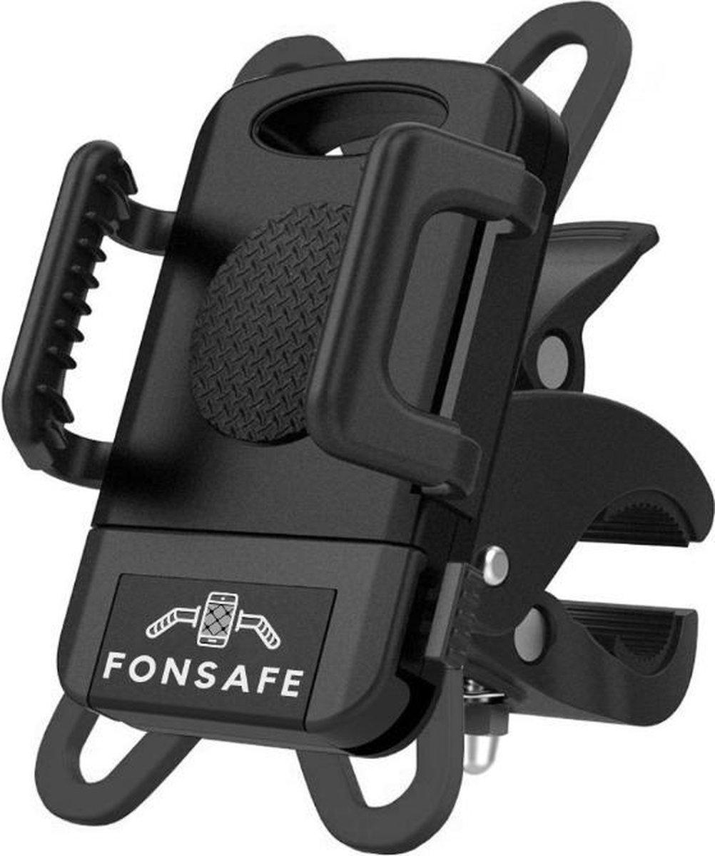 FONSAFE  Telefoonhouder Fiets - Universeel en Schokbestendig voor GSM - Handsfree bellen - 360  Draa