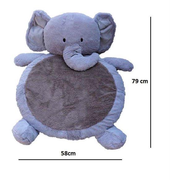 Snuggle Up Speelkleed Baby - Speelmat - Boxkleed Rond - 79 x 58 cm - Kraamcadeau Jongen/Meisje - Babyshower Cadeau - Olifant