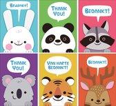 Bedankkaarten - Set van 12 x bedankkaart