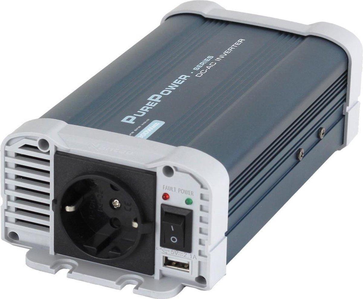 Omvormer Xenteq 12V naar 230V - 300W zuivere sinus