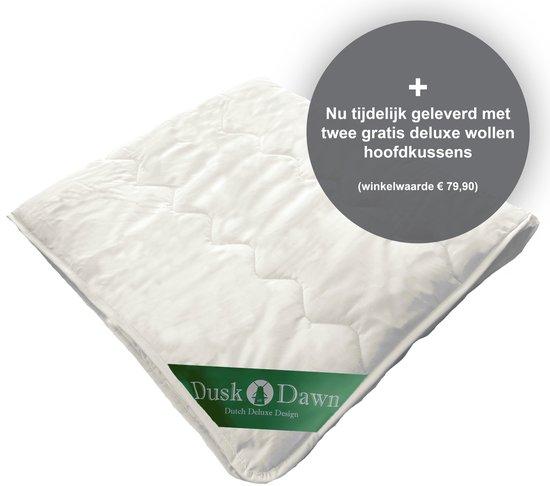 Dusk till Dawn - 4-Seizoenen - 240x200 cm - Litsjumeaux - Wollen Dekbed - Wol