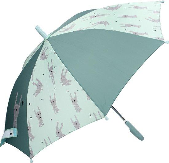 Kidzroom Fearless & Cuddle Mint paraplu – 44 x 78 cm   – Mint