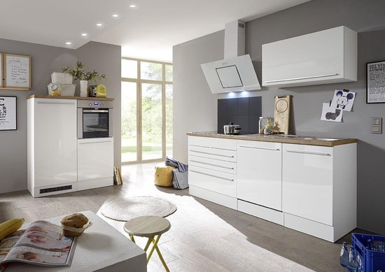 Bol Com Meister Premium Complete Greeploze Keuken Met Soft Close 335cm Eiken Wit Mat Incl