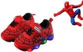 Spiderman schoenen met licht maat 29 Spiderman pak verkleed pak spider Spinnenheld superheld verkleedkleding jongen + GRATIS popje