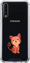 Samsung Galaxy A50 Transparant siliconen hoesje (Kitten)