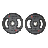 Hammer - PU - Olympische Halterschijven - per Paar - 2x 25 kg