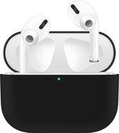 KELERINO. Siliconen Case voor Apple AirPods Pro - Hoesje - Zwart
