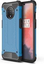 OnePlus 7T Hoesje - Armor Hybrid - Lichtblauw