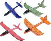 4 kleuren zweefvliegtuigen - vliegtuig speelgoed peuter - zweefvliegtuigje