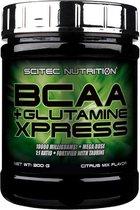 Scitec Nutrition - BCAA + Glutamine Xpress - 300 gram - 25 porties - poeder - Citrus mix Smaak