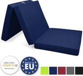 Beautissu vouwmatras met schuimstofvulling - opvouwbaar matras - logeermatras 195x80cm donker blauw