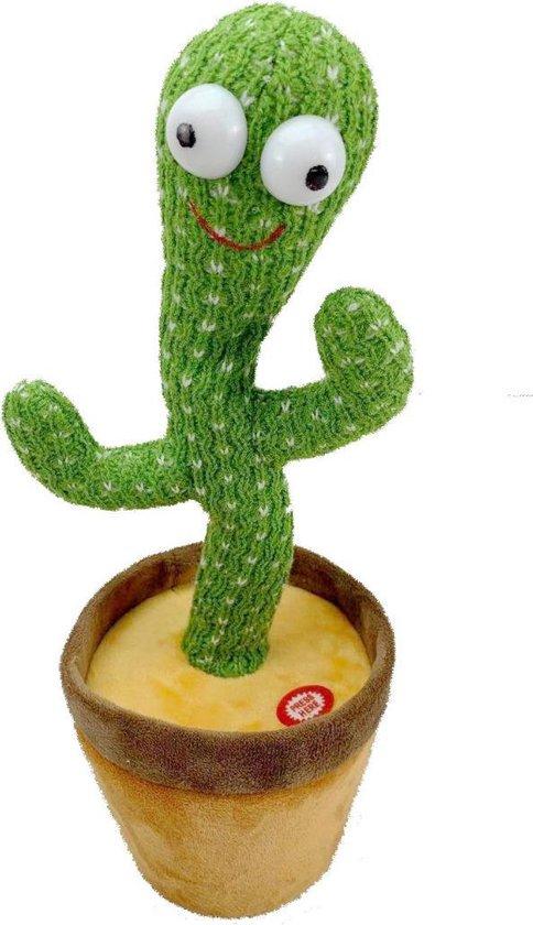 Goodlifehacks Dancing Cactus - Dansende en Zingende Cactus - TikTok - Interactieve Pluche Knuffel - Leerzaam Speelgoed