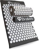 BrellaVio® Spijkermat met Spijkerkussen en Topper - Zwart - 68x42 cm - Acupressuur Mat - Spijkerbed - Acupunctuur Massage Kussen