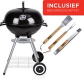 BBQ Collection Houtskool Barbecue - Inclusief RVS barbecueset - Grilloppervlak (LxB) 45 x 45