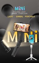 Bovadi® L09 + led verlichting Nieuwste Versie Anti shake portable Gimbal – TikTok – Vloggen – Smartphone Stabilizer – Afstandsbediening – inclusief Statief – Selfiestick – 360 * horizontaal en verticaal