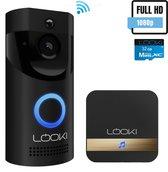 Looki® 1080P WiFi Video Deurbel met Camera – Incl. 32GB SD-kaart & Cloud – incl. Chime met 52 ring melodieën – Intercom