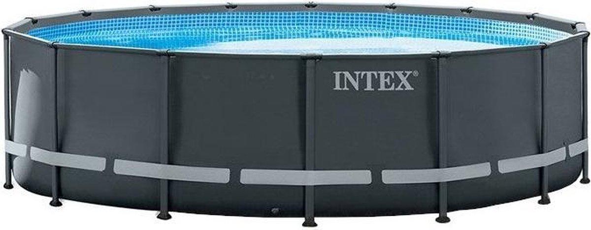 Intex Opzetzwembad - Ultra XTR Frame - 488 x 122 cm - Antraciet - Met Accessoires