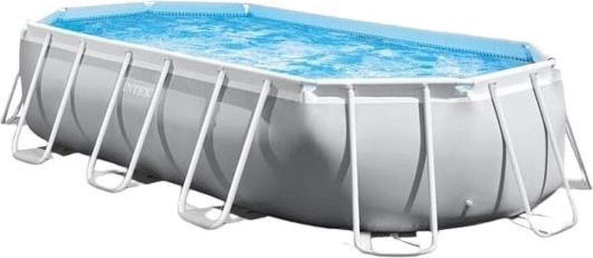 Intex Opzetzwembad Met Accessoires 610 X 305 X 122 Cm Grijs