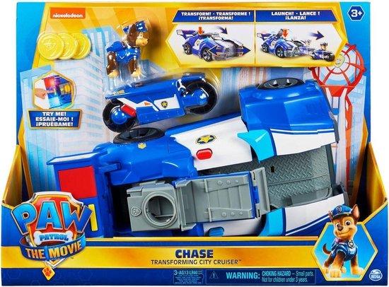 PAW Patrol De Film - 2-in-1 Transformerende Politieauto en Motor van Chase - Met licht en geluid