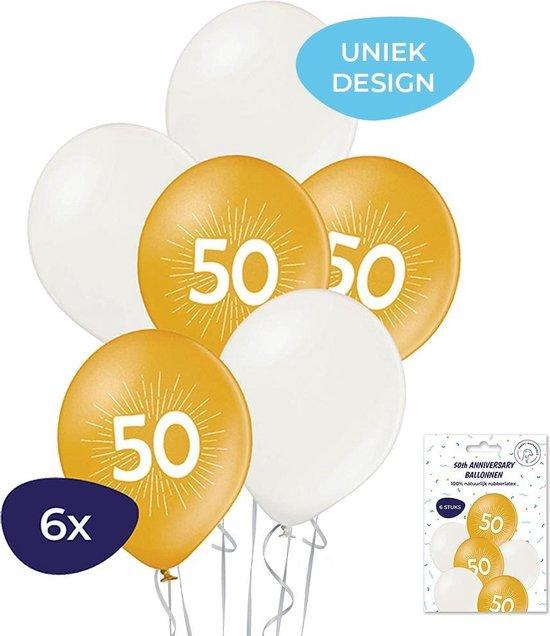 50 jaar ballonnen - 6 stuks - Jubileum ballonnen
