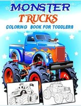 Monster Trucks Coloring Book for Toddlers