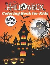 Halloween Coloring Book for Kids Ages 2-10
