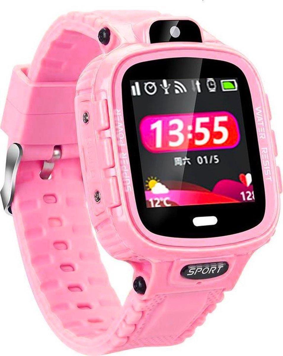GPS Tracker Kind - Smartwatch Kinderen met GPS Tracker - SOS Bel Functie - Werkt via SimKaart - Roze