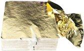 Bladmetaal  - Goud - Imitatie Bladgoud – Grote Vellen -16*16CM - 100 Vellen