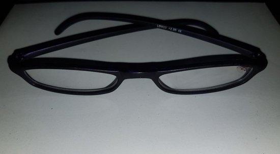 Mondanos Leesbril Sterkte 2,50 met speciaal gevormde poten. - Zwart