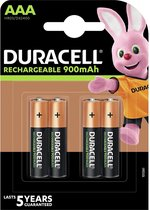Duracell Rechargeable AAA 900mAh batterijen - 4 stuks