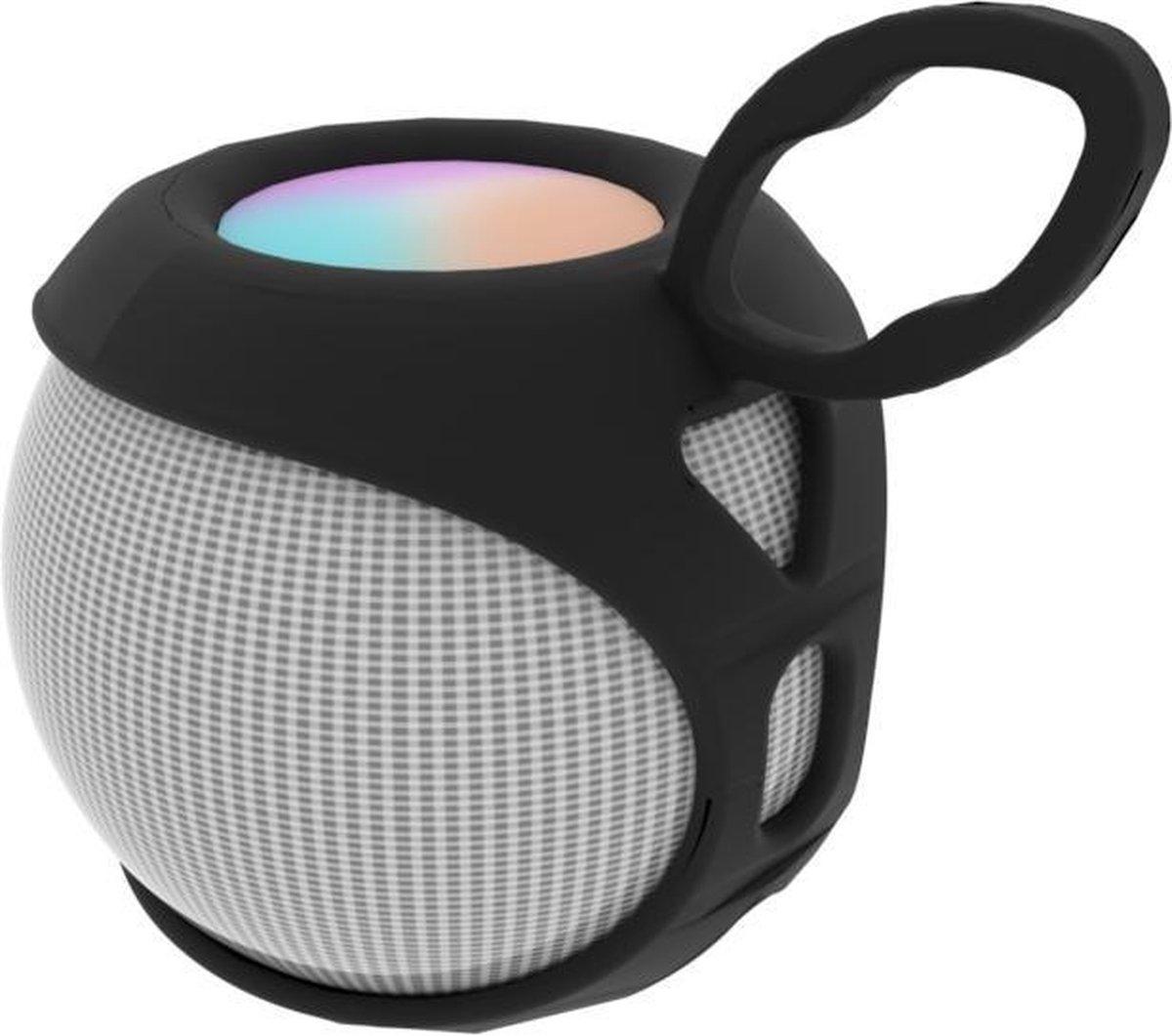 Luxe Siliconen Case voor Apple Homepod Mini - Soft Cover Hoesje - Smart Speaker Beschermhoes - Zwart