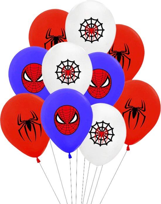 Spiderman Ballonnen - 10 Stuks - Marvel Avengers - Ballonnen Verjaardag - Helium Ballonnen - Peter Parker - Spider-Man - Superheld - Hero