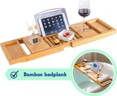 Koalas ® Bamboe Badplank - Luxe Badrekje met Boekenhouder - Tablethouder
