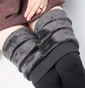 Winter Elastische Dames Warme Fleece High wasted Legging