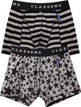 Claesen's Jongens 2-pack Boxershort - Star Stripes - Maat 140-146
